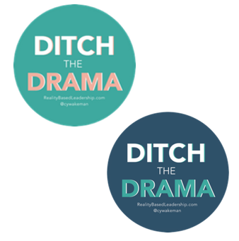 Ditch the Drama Stickers - Round