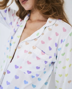 Multi Heart Pyjamas - from Stripe & Stare