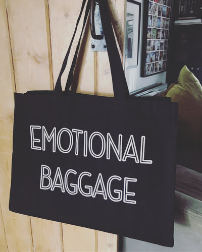 Emotional Baggage - Super Shopper Tote Bag