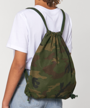 Camo drawstring gym bag