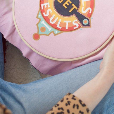 Rebels Get Results Embroidery Hoop Kit - by Cotton Clara