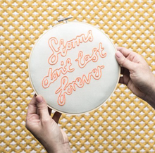 Storms Don't Last Forever Embroidery Hoop Kit - by Cotton Clara
