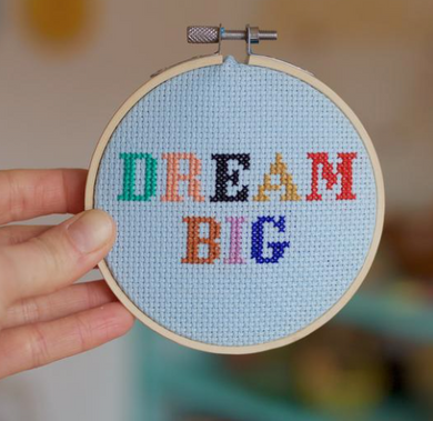 Dream Big Cross Stitch Kit - by Cotton Clara