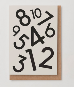 Numbers Birthday Card (1-10)