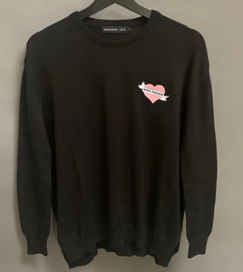 Black Cotton GOOD ENOUGH Knitted Jumper