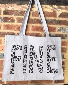Grey Leo Shopping Bag