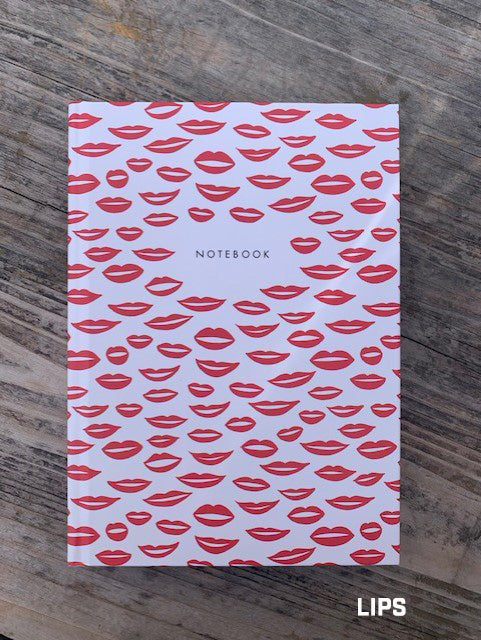 PAPIER Hardback Notebook - LIPS
