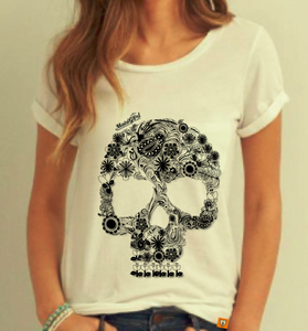 Tulip Teeth Skull - White