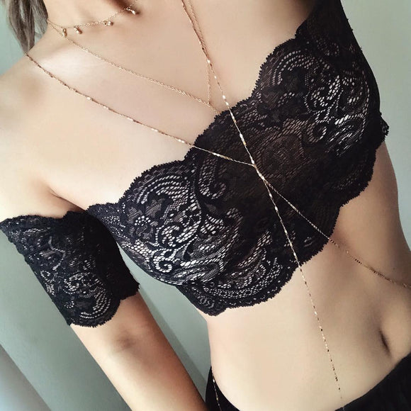 Lana Off-The-Shoulder Bralette Crop