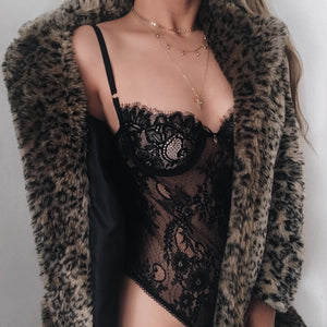 Isabella Lace Bodysuit Black