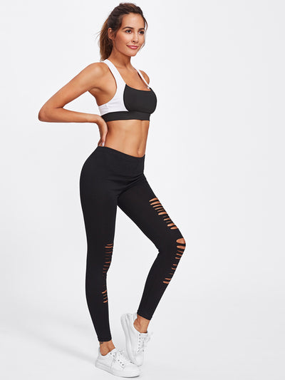Active Ladder Ripped Gym Leggings