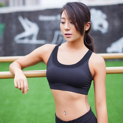 Sexy Compression Sports Bra Top For Women Cross
