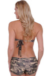 Women's Juniors Halter Top Camo Bikini Beach