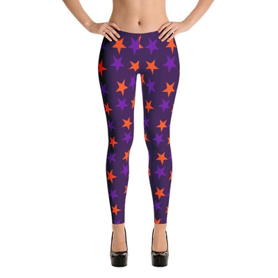 Magical Violet Halloween leggings with stars