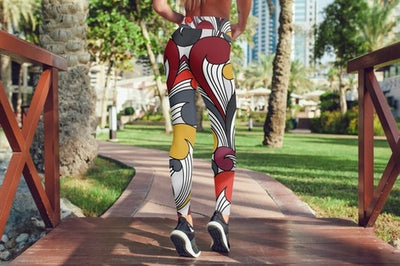 Color Pattern Leggings For Women Party Leggings