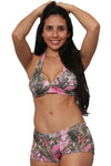 Women's Pink True Timber Halter Top & Hot Shorts