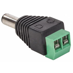 Adaptador Plug Invertido 2.1 Mm A 2 Terminales Atornillables