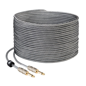 CABLE DE AUDIO TIPO CORDÓN PLUG A PLUG 6,3 MM MONOAURAL DE 15 M