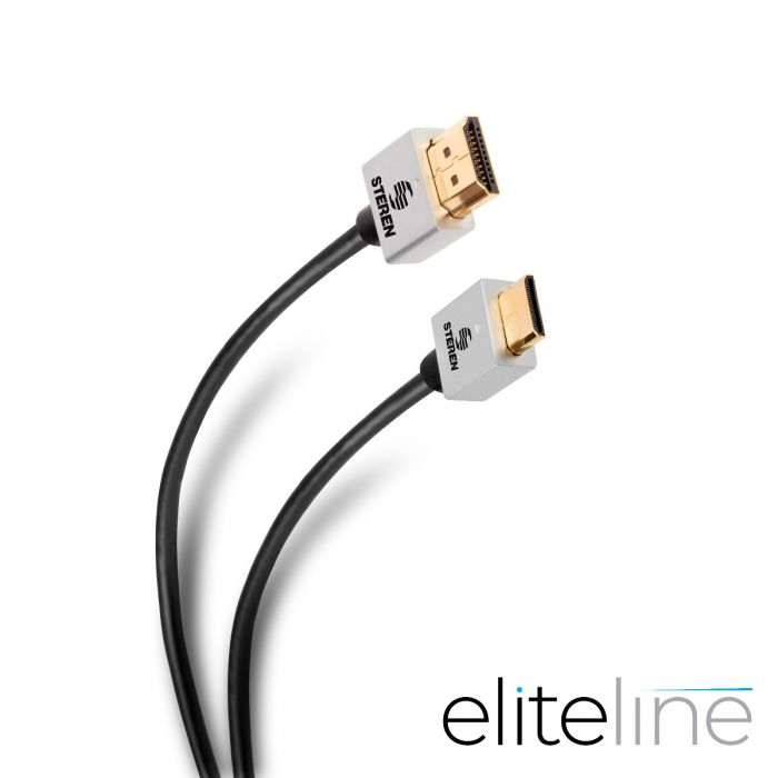CABLE ELITE 4K MINI HDMI® A HDMI® ULTRA DELGADO, DE 1,8M