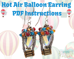 Instant Download Instructions_Hot Air Balloon Earrings Pattern_Right Angle Weave_