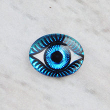 Evil Eye Cab_Bermuda Blue_10x8mm