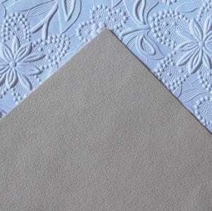 Sand Beige Ultrasuede Fabric_Bead Embroidery_8.5x8.5 square