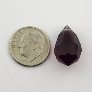 12x20mm Amethyst Drops_Preciosa Crystal_Purple Crystal