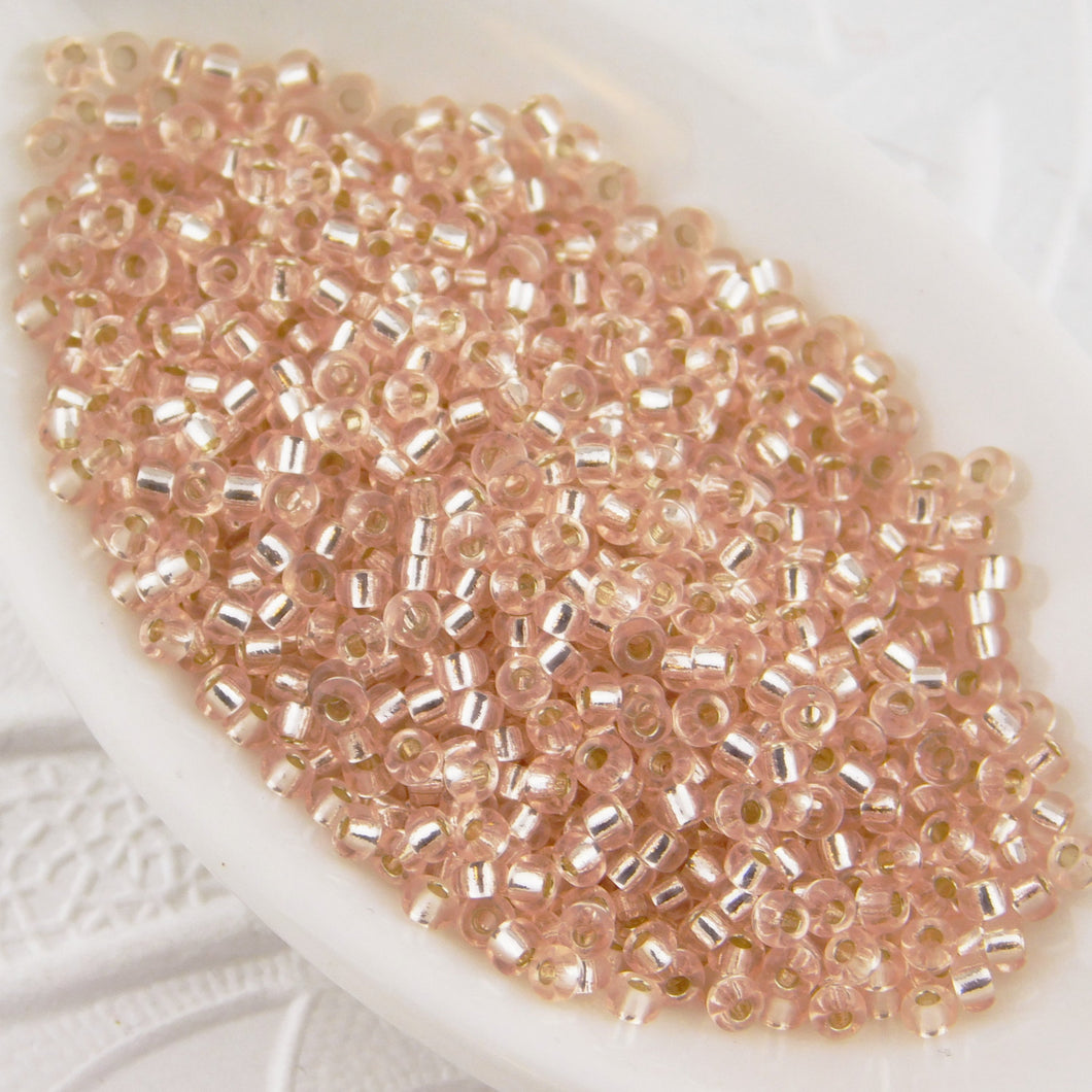 11/0 Japanese Seed Beads_Silver Lined Light Blush_10 grams