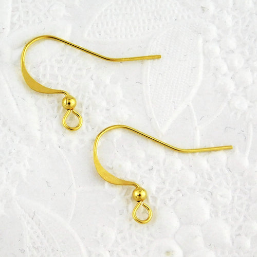 Gold French Earwire_Ball Detail_Gold Plated