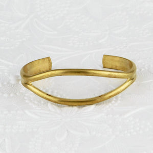 "Brass Cuff Bracelet Blank-Open Center-Marquis Shape-3/4""-Jewelry Design-Base-Natural Brass"