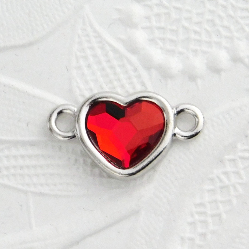 Red Heart Link_20x12mm_Swarovski Heart