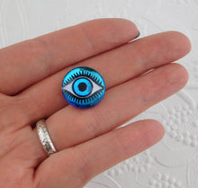18mm Evil Eye Cabochon_Bermuda Blue_Blue Eyes_Protection_Bellydance_Bead Embroidery