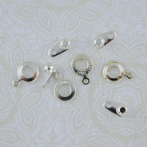 8mm Ball and Socket Clasps_Silverplate_3 sets