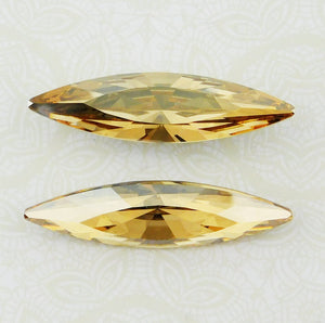 Swarovski #4200 Navette Stone_48x13mm_Crystal Golden Shadow