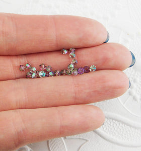 50 beads) Swarovski 3mm Bicones_Crystal Paradise Shine