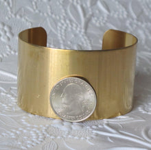 Brass Cuff Bracelet 1-1/2 inches wide_Cuff Blank_Jewelry Design