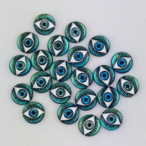 12mm Evil Eye Cabochon_Bermuda Blue_Bellydance