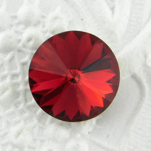 10th Anniversary SALE 2) 12mm or 14mm Swarovski Crystal Rivolis_Scarlet Red_New Color
