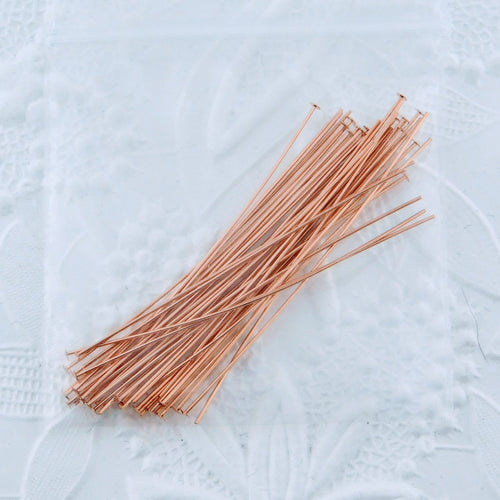 14K Rose Goldfill Headpins_2 inch 24 gauge_Gold-filled