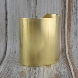 "2-1/2"" Brass Cuff_Bracelet Blank_Cuff Bracelet_Raw Brass Base_Jewelry Design_Findings_"