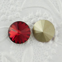 2) 12mm or 14mm Swarovski Crystal Rivolis_Scarlet Red_New Color_2 pieces_Jewelry Design_Cabochons_Red Crystal_Love_Holidays