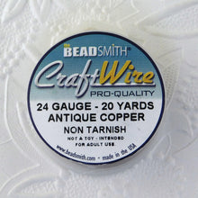 24 gauge Wire_Antique Copper_20 Yard Spool
