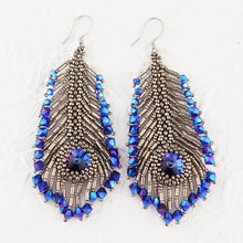 Instant Download PDF_Peacock Feather Earring Pattern_Bead Pattern_Tutorial_Bead Instructions_Peyote Stitch_Right Angle Weave_Jewelry Design