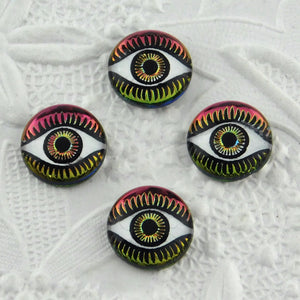 12mm Evil Eye Cabochon_Vitrail Medium_Beading
