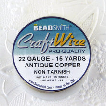 22 gauge Antiqued Copper Wire_15 Yard Spool_Copper Base_Dead Soft_Made in America_Jewelry Design_Wirework