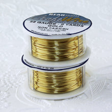 22 gauge Non Tarnish Gold Plate Wire_8 yard Spool_Copper Base
