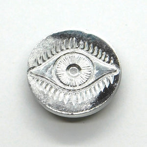 14mm Evil Eye Cabochon_Copper_Salmon