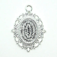 Bezel Pendant_for 18x13mm Cabochons_Victorian Style_4 pieces_Glue in_Pendant