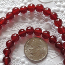 6mm Carnelian Rounds_Red Orange_Natural Stone_15 inch strand_Stone of Courage_Base Charkra_Jewelry Design_Bead Strand