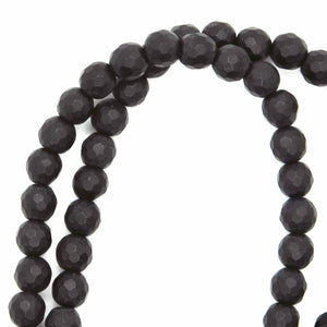 6mm Matte Faceted Onyx Rounds_Natural Beads_Stone Rounds